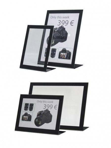 Display para publicidad marco negro varios tamaños