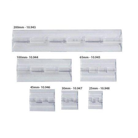 Bisagras acrílicas para porta gráficas seis modelos