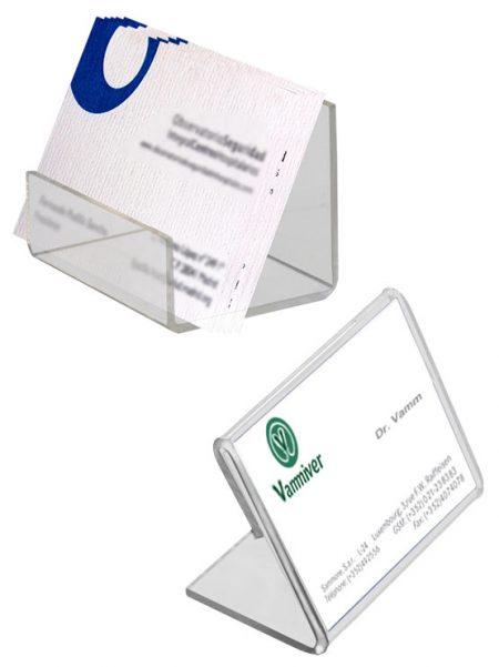 Expositor Acrílico para Tarjetas de Visita (20 unidades)
