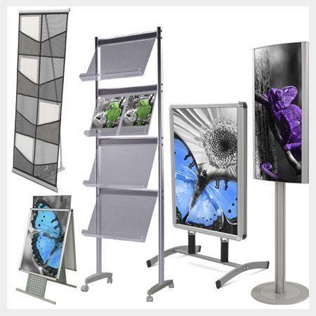 Expositores y Caballetes de Aluminio