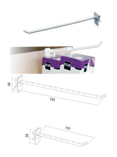 Gancho Simple Soporte Cartón (50 unidades)