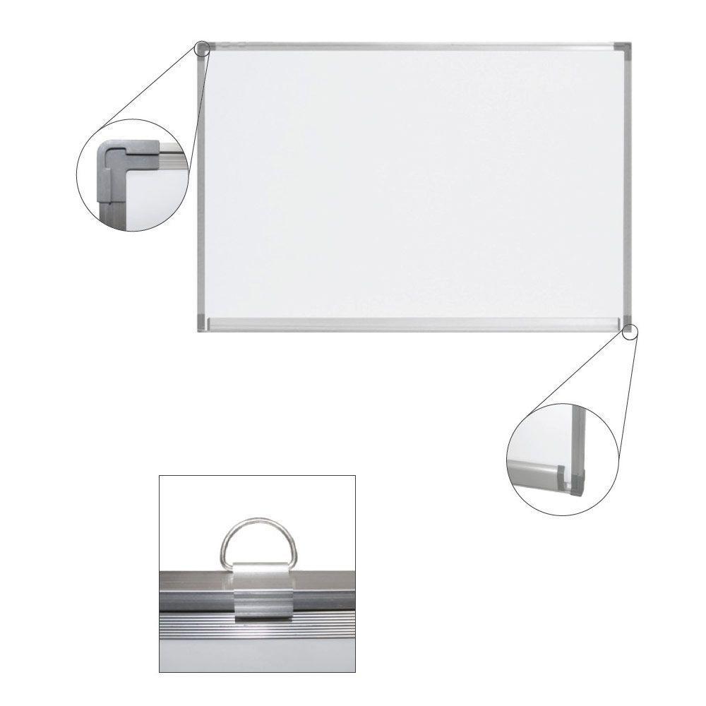 Pizarra magnética blanca enmarcada en aluminio anodizado