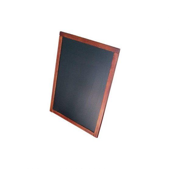 Pizarra de precio marco barnizado para fijación en pared