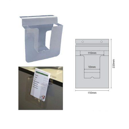 Porta Folletos PVC con Adhesivo y Agujeros