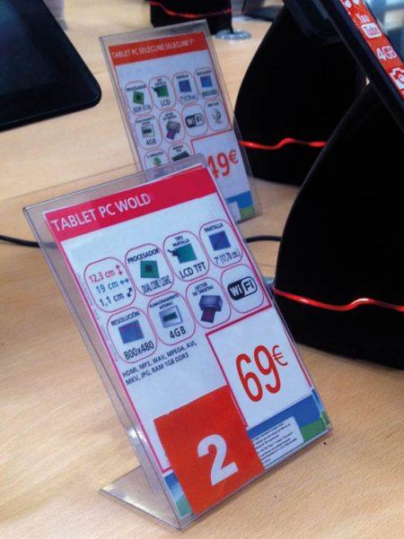 Porta Gráfica en PVC tipo L (50 unidades)