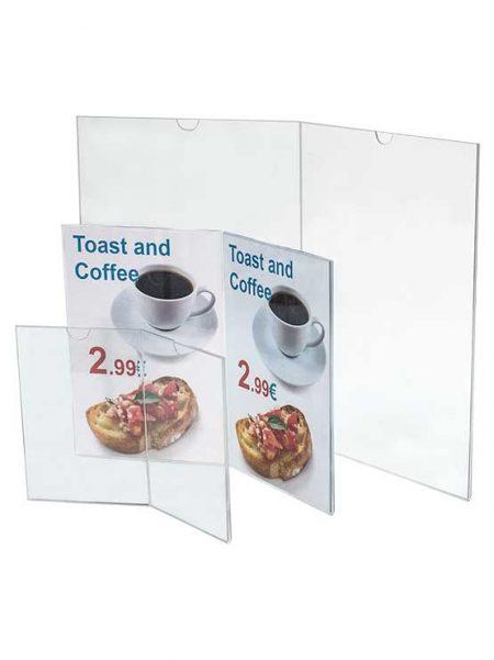 Porta Menú Doble Sobremesa (5 unidades)
