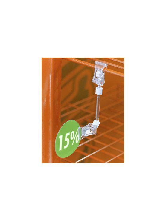 Porta precio pinza 20mm c1 de pl stico transparente 25 for Porta 1 20