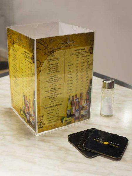 Portamenus Restaurante Cuadrado (4 unidades)