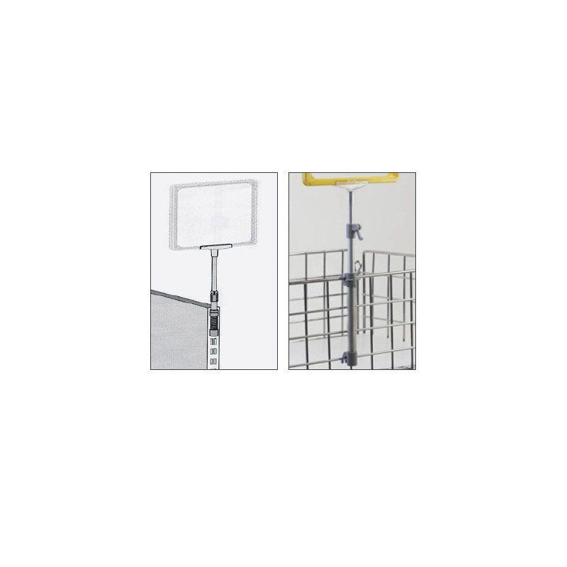Soporte con Muelle para Marco de Plástico en cestas (10 unidades)