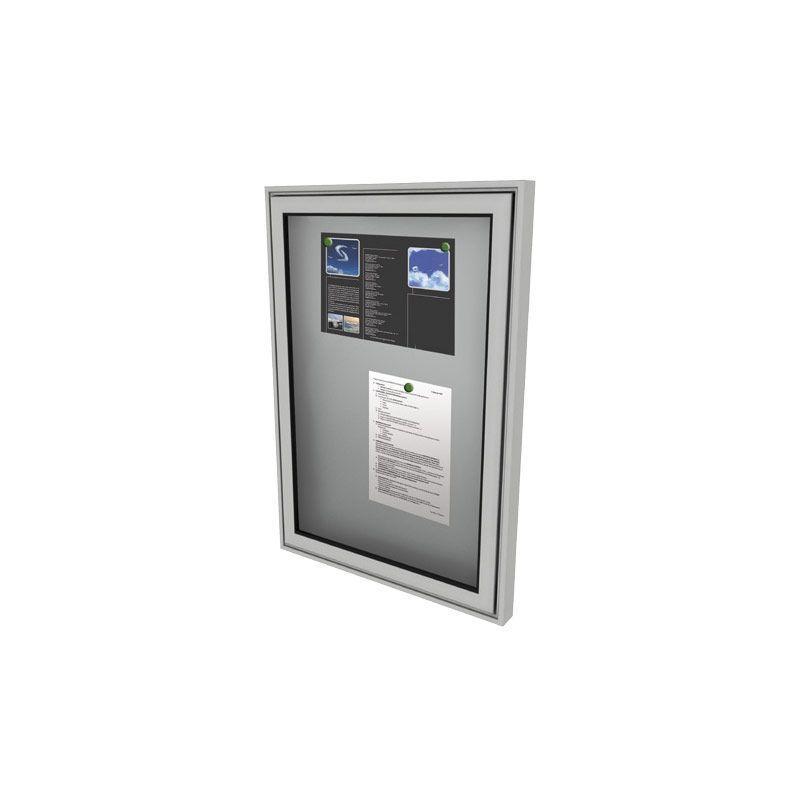 Tablón de Anuncios Magnético para suelo y pared con marco de aluminio
