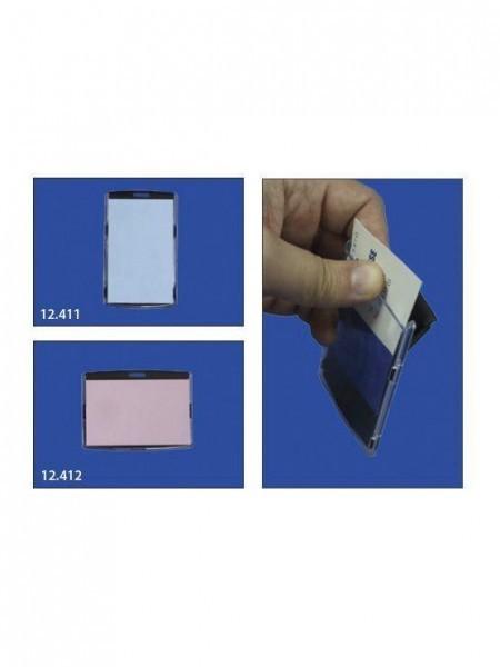 Acrylic Card Case Negra para identificadores