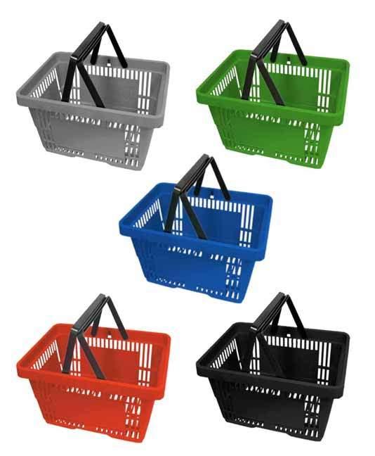 cesta autoservicio de mano en varios colores