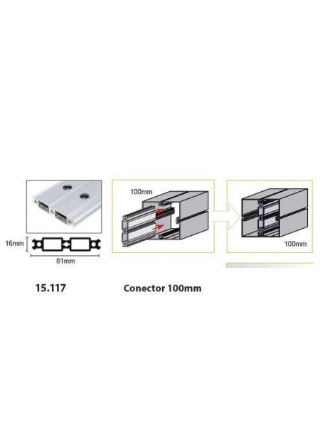 Conector para Unión de Perfil (2 unidades)