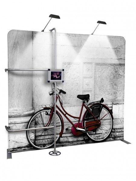 Display Expositor iluminado con soporte tablet modelo Mali