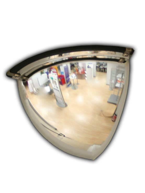 Espejo de seguridad esquina hemisf rico para locales for Espejos de seguridad