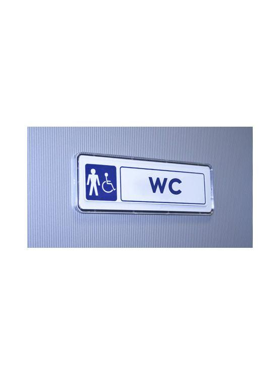 Marco acrílico adhesivo para señalización en puertas y paredes