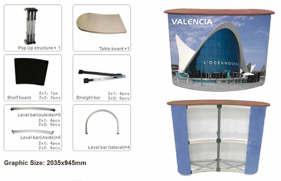 Mostrador Promoción modelo Cebreros