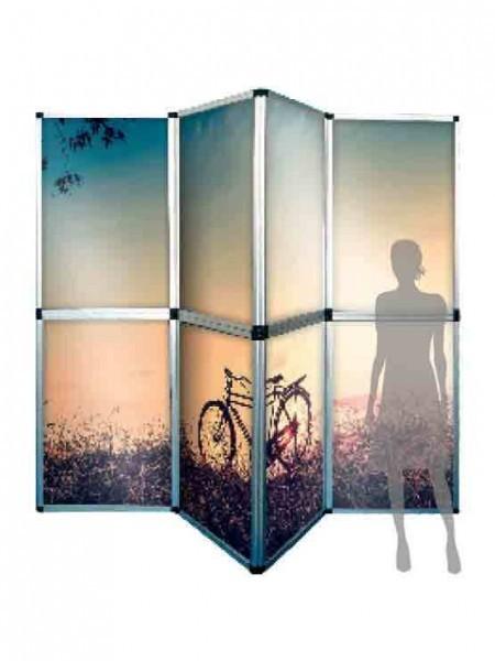 Photocall modular tipo biombo