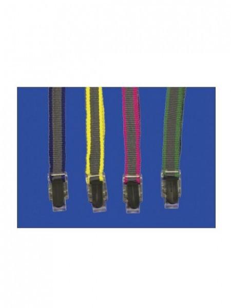 Plastic Button Dual Colour Suspension Rope cintas para colgar identificaciones personales