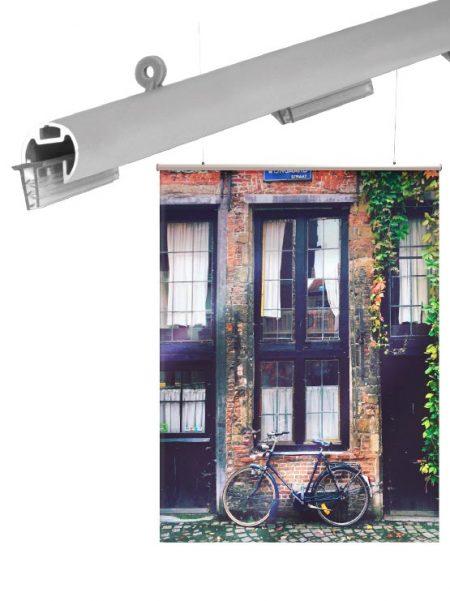Porta Carteles modelo AluGrip (4 unidades)