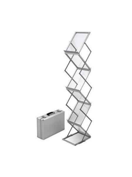 PortaFolletos Portátil con maleta de transporte modelo Sahagun