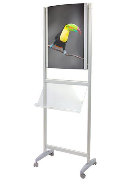 PortaFolletos con marco para Gráfica y Ruedas modelo Olmedilla