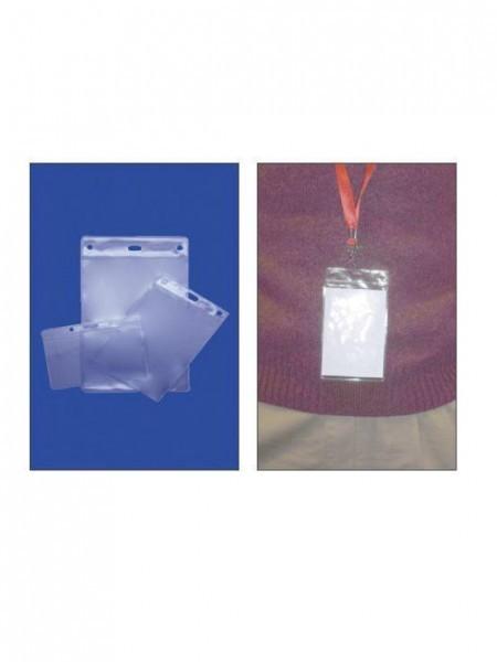 Soft PVC Card Holders identificaciones colgadas al cuello
