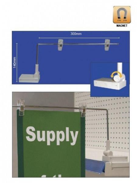 Soporte clip magnético para estanterias