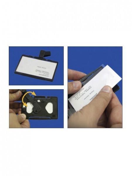 Vertical Horizontal ABS Card Holder para tarjetas de visita