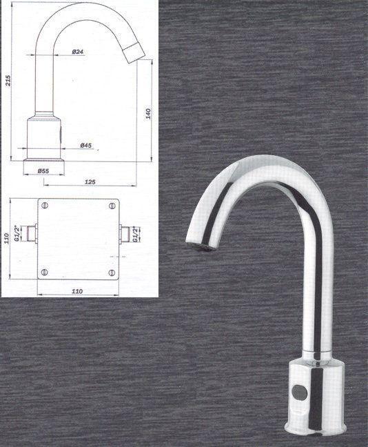 Ca o electr nico para lavabo grifer a industrial para - Griferia industrial ...