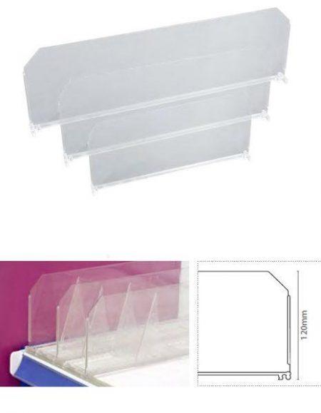 Divisor Plástico Transparente 120 mm (25 unidades)