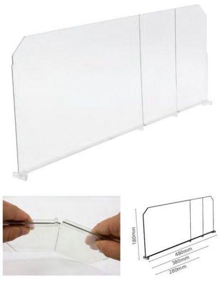 Divisor Plástico Transparente Quebradizo (20 unidades)