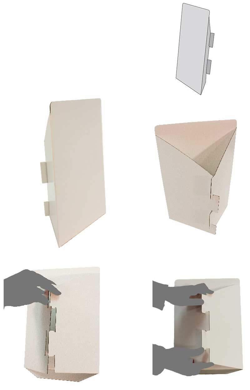 Expositor de cartón modelo Budapest