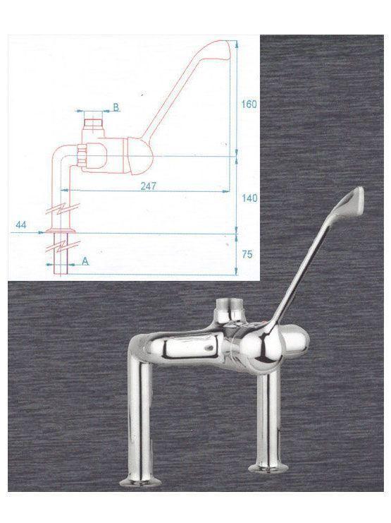 Grifo mezclador monomando grifer a industrial - Griferia industrial ...