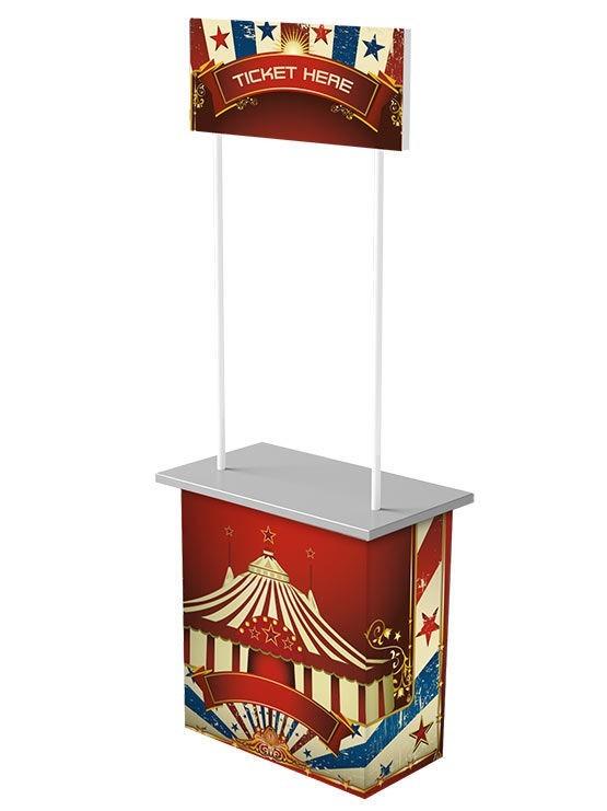 Mostrador Cartón modelo Praga impreso