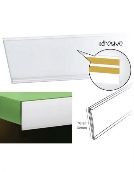 Perfil Etiquetero Porta Precio Adhesivo A-30 (25 unidades)