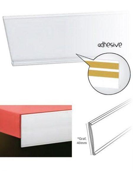 Perfil Etiquetero Porta Precio Adhesivo A-40 (25 unidades)