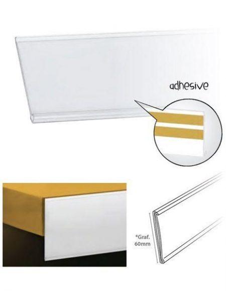 Perfil Etiquetero Porta Precio Adhesivo A-60 (25 unidades)
