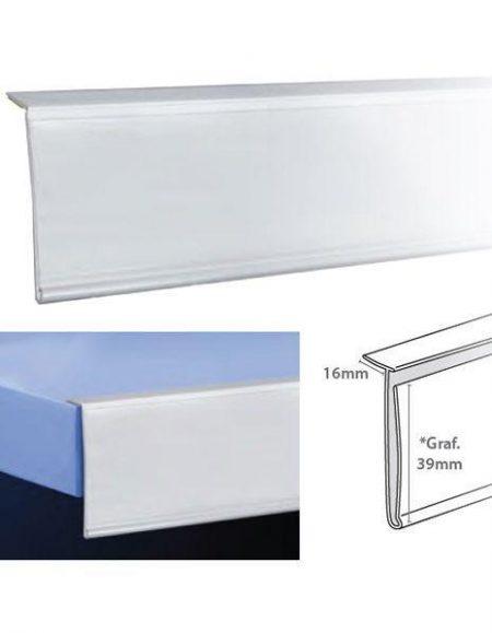 Perfil Etiquetero Porta Precio Adhesivo L-39 (25 unidades)