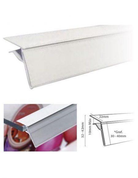 Perfil Etiquetero Porta Precio Glass (25 unidades)