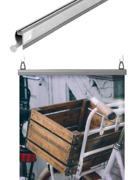Porta Cartel Semi Circular FastClip (4 unidades)