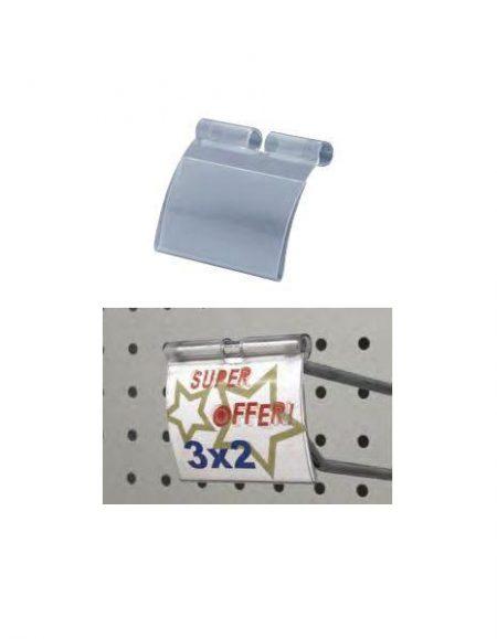 Porta Etiqueta Curvo para Gancho (100 unidades)