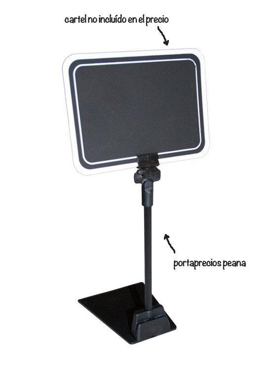 PortaPrecios Peana Pinza negra nuevo