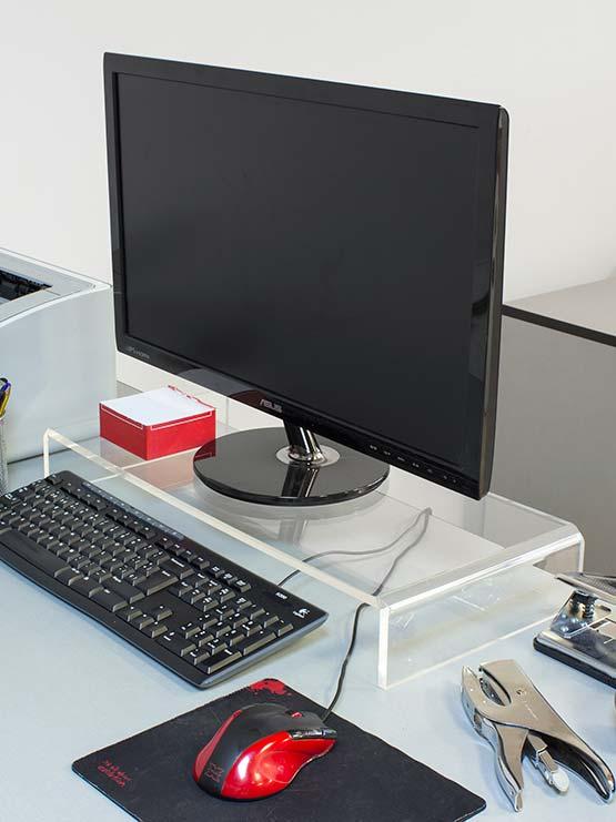 Soporte de metacrilato para monitor fabricado en material acr lico - Pared de metacrilato ...