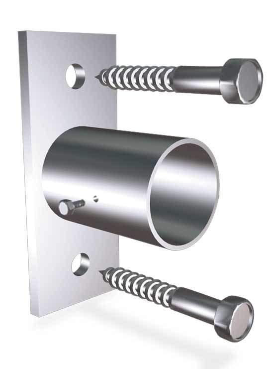 Soporte lateral para tubo realizado en acero inoxidable - Tubos para chimeneas de acero inoxidable ...