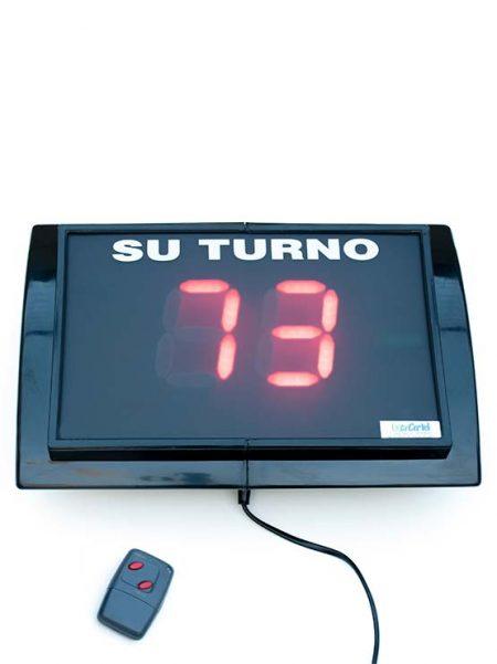 Su turno dos dígitos con mando a distancia