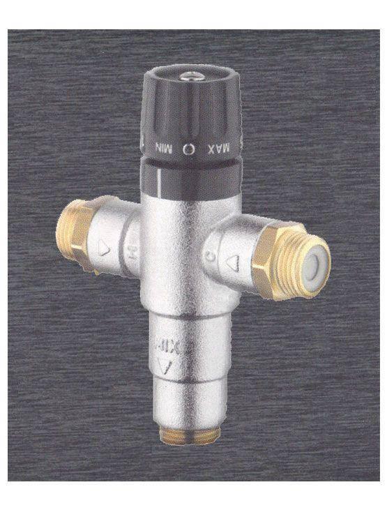 V lvula termost tica con sistema anti retorno for Valvula anti retorno