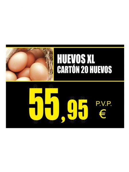 PortaPrecios Huevos ESTANDAR