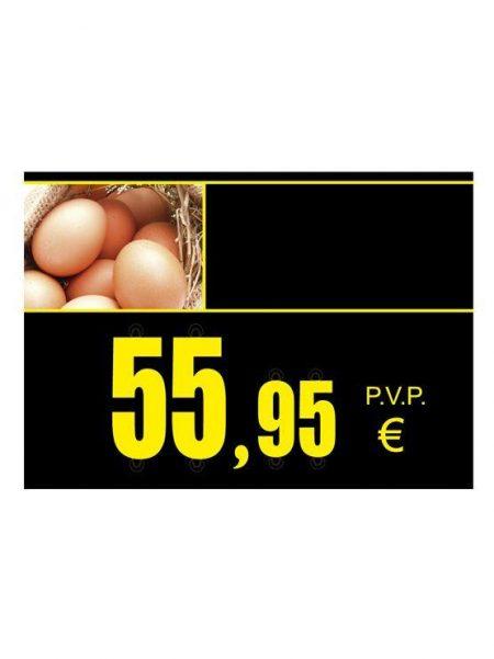 PortaPrecios Huevos ESTANDAR para ROTULADOR