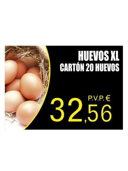 PortaPrecios Huevos modelo OLMO